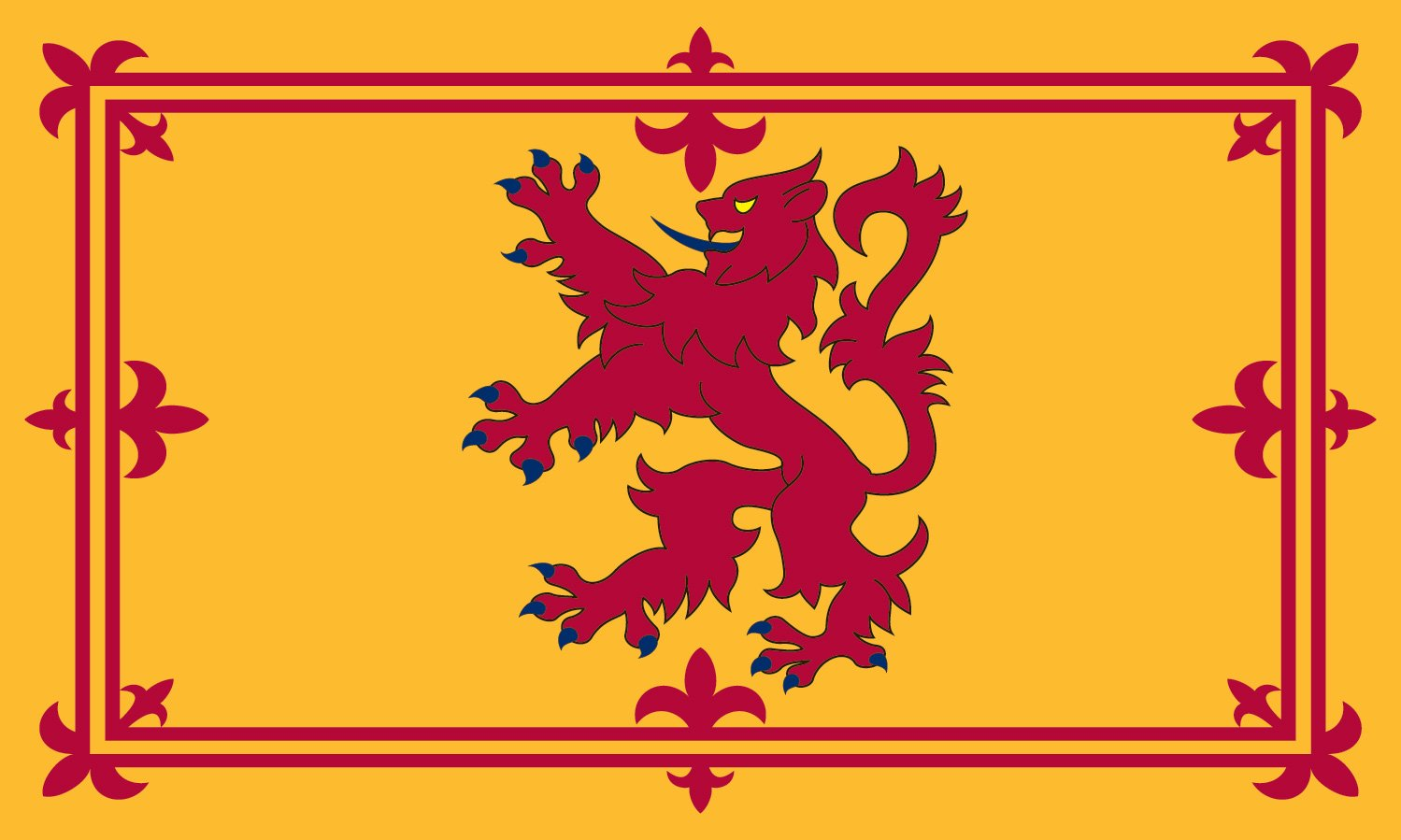Valley Forge Flag 3-Foot by 5-Foot Nylon Scotland Rampant Lion Flag by Valley Forge