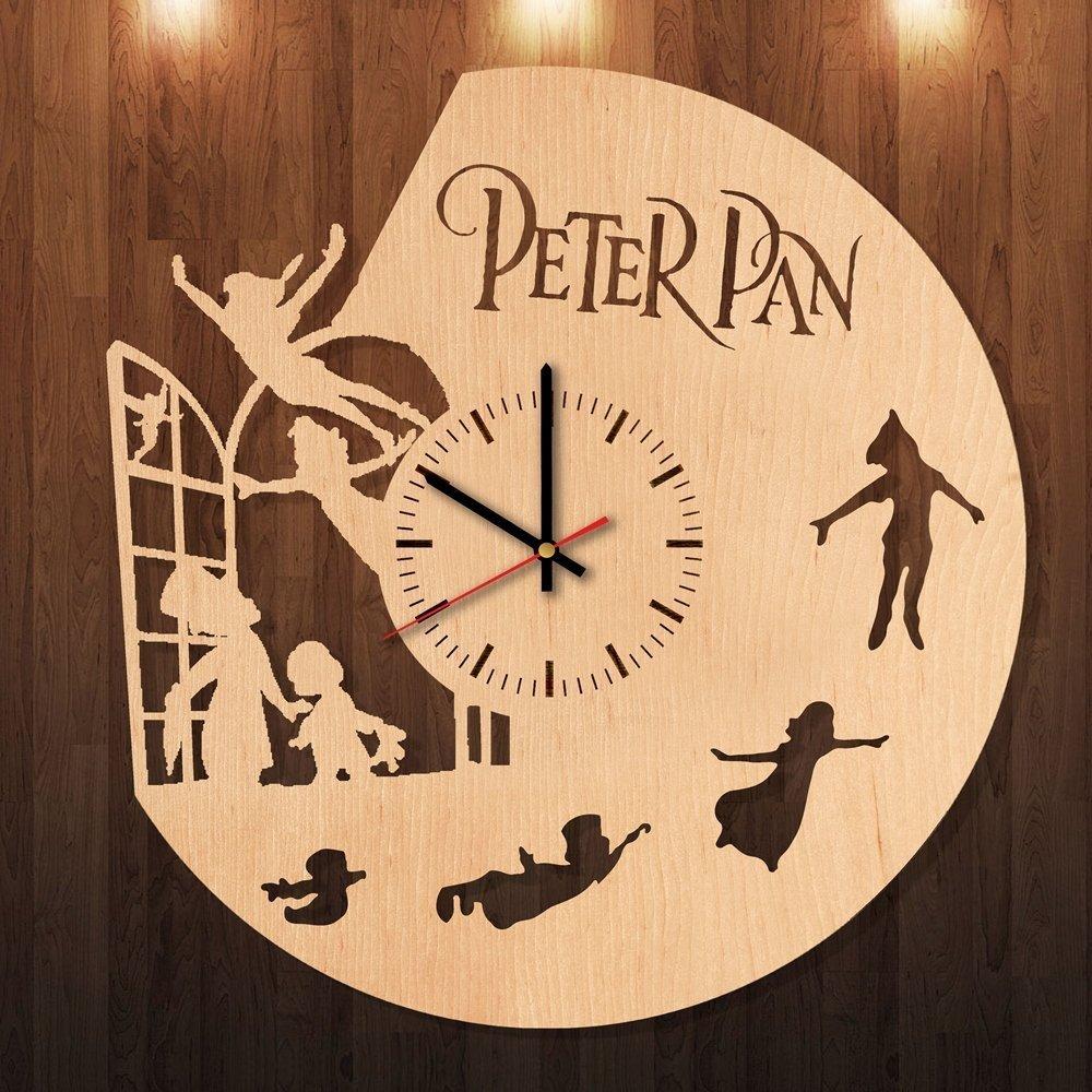Amazon.com: Peter Pan Eco Friendly Wood Wall Clock - Get unique ...