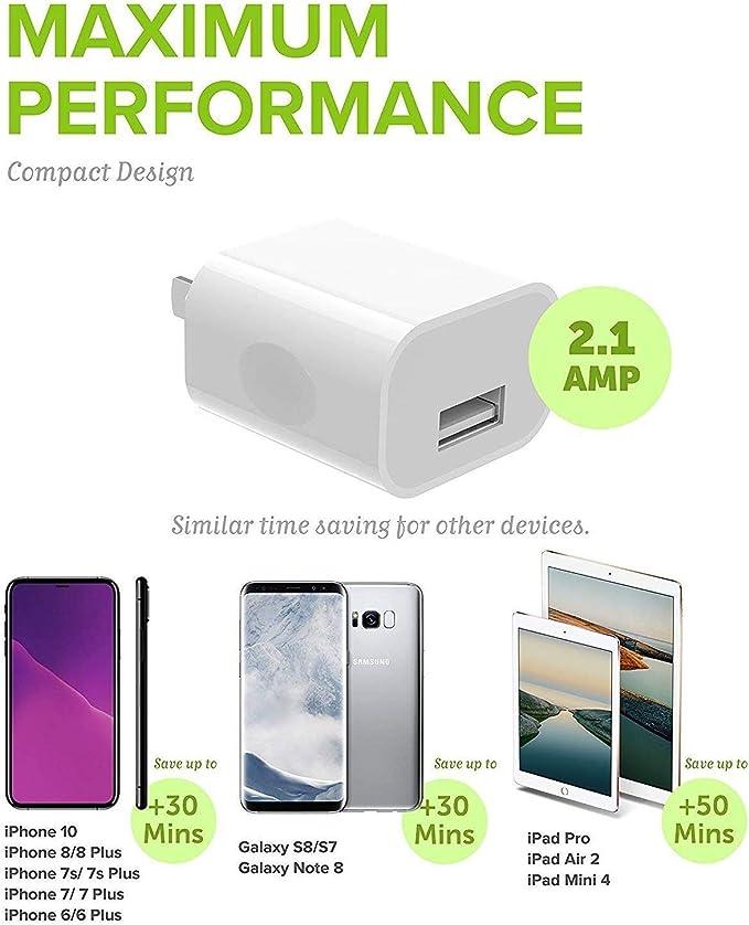 Amazon.com: iPhone 8 Plus Cargador Apple Lightning Cable Kit ...