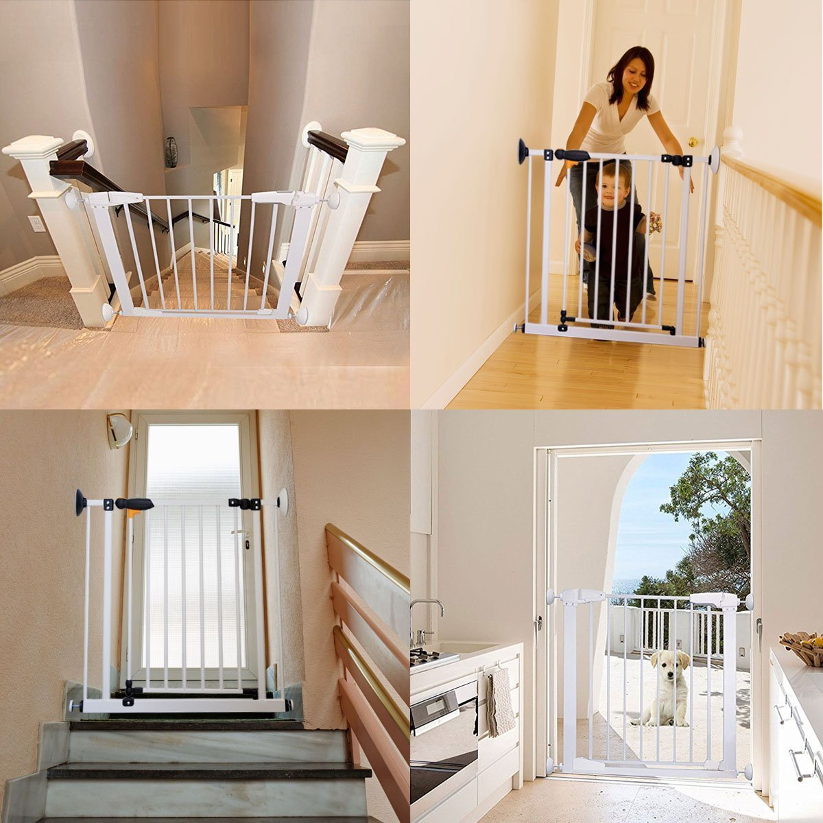 Fairy Baby Baby Gate Wall Saver Pressure Wall Guard Protector 2 Pack White