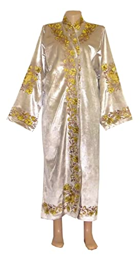 07a9b7ac9dc Amazon.com: UZBEK TRADITIONAL BUKHARA ROBE JACKET COAT UNISEX GOLD SILK  EMBROIDERED A10567: Handmade