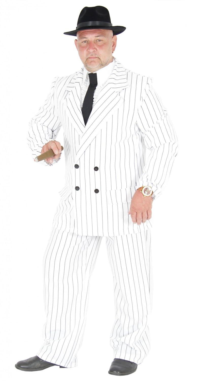 Foxxeo 40181   Blanco 20 años Gangster Traje Disfraz Hombre ...