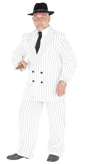 Foxxeo 40181 | Blanco 20 años Gangster Traje Disfraz Hombre ...