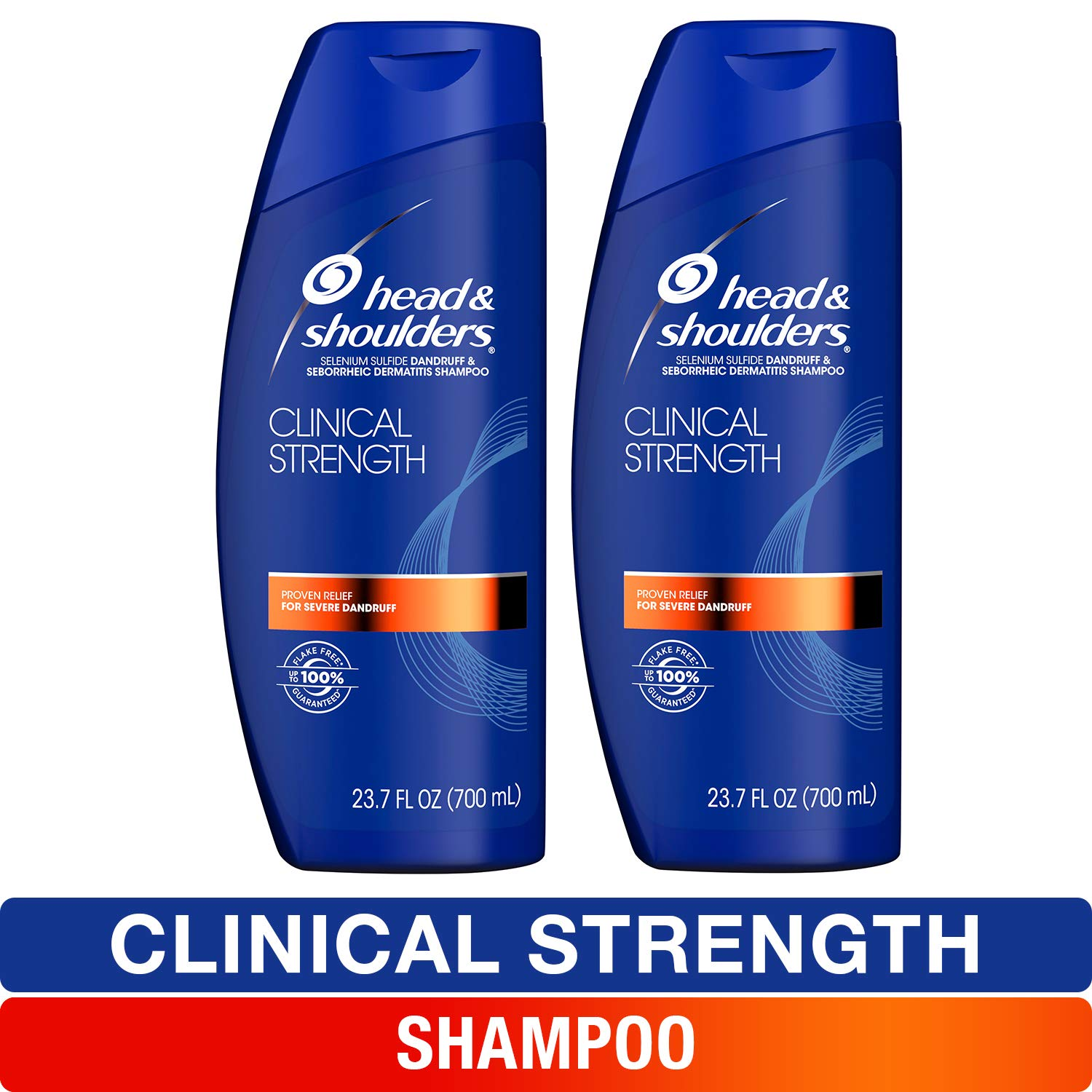 Head and Shoulders Shampoo, Anti Dandruff and Scalp Care, Clinical Strength Seborrheic Dermatitis Treatment, 23.7 fl oz, Twin Pack by Head & Shoulders