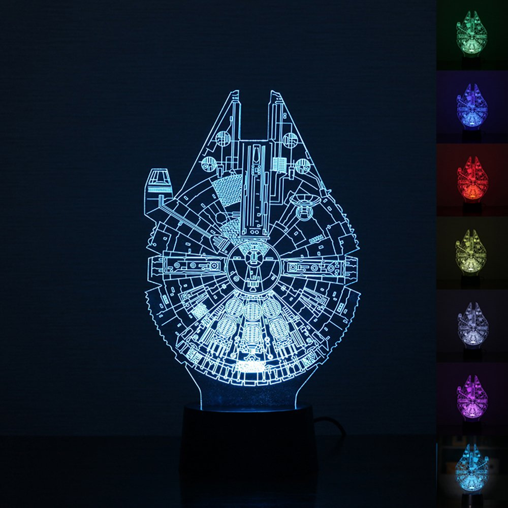 MI-EShop Illusione 3D Night Light, Star Wars Desk Lamp per...