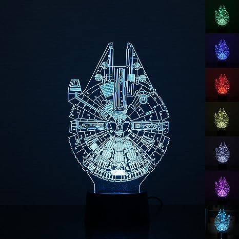 amazon com umiwe 3d illusion night light star wars desk lamp with rh amazon com star wars desktop star wars desk calendar