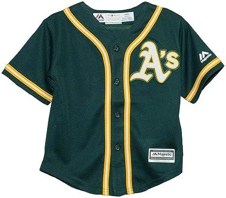 694b7edf Amazon.com : Oakland Athletics Green Cool Base Child Jersey (Small ...