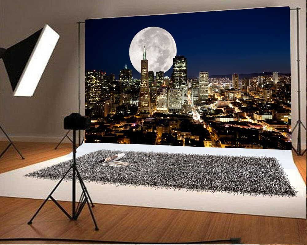 8x12 FT City Vinyl Photography Backdrop,Empire State and Skyscrapers of Midtown Manhattan New York Aerial View at Dusk Background for Baby Shower Bridal Wedding Studio Photography Pictures