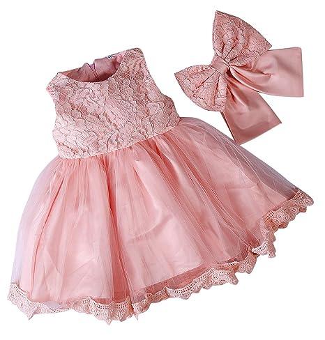 vendita di liquidazione varietà larghe comprare nuovo LaoZan Vestito per Bambine e Ragazze, Vestiti da Principessa Abiti da  Cerimonia Pizzo