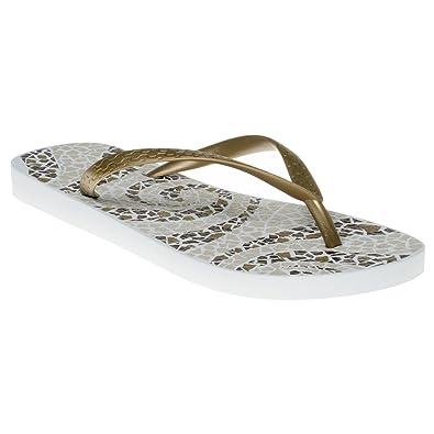 8657b0aad250e Ipanema Ladies Womens Casual Summer Beach Flip Flops Sandals Shoes -Green  Cream Blue Black Mosaic (UK6 7- EUR 39 40 -US 9 10
