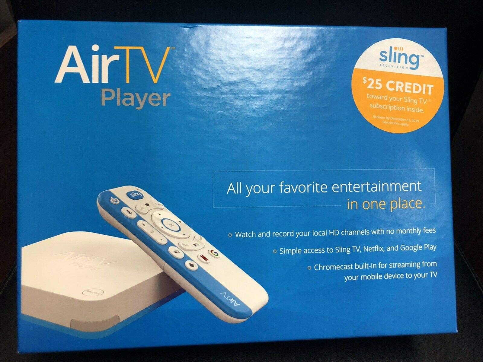 AirTV Player All in One with Dual Tuner and $25 Sling TV Credit by AirTV