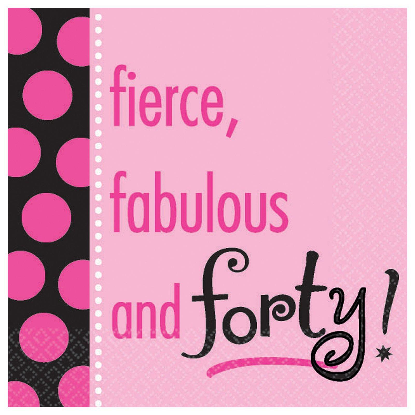 "Amazon.com: Fierce, Fabulous & Forty! 18"" Mylar Balloon"