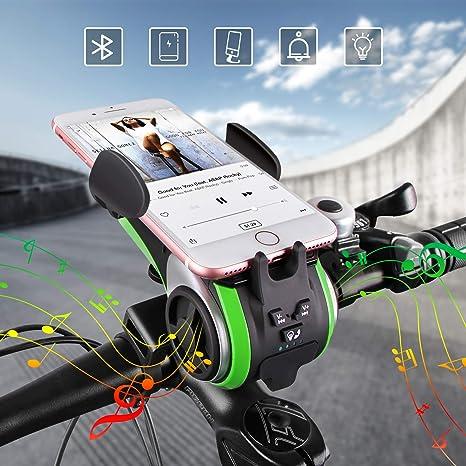 Altavoz Bluetooth,UPPEL Bluetooth Speaker, Altavoces Portatiles Bici Bluetooth V4.0 Altavoz+4400mAh Banco de energía+Luces+Timbre+Soporte ...