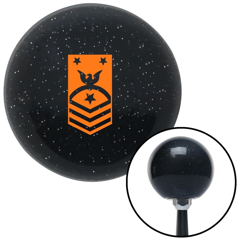 Orange Force or Fleet Command American Shifter 72892 Black Metal Flake Shift Knob with M16 x 1.5 Insert