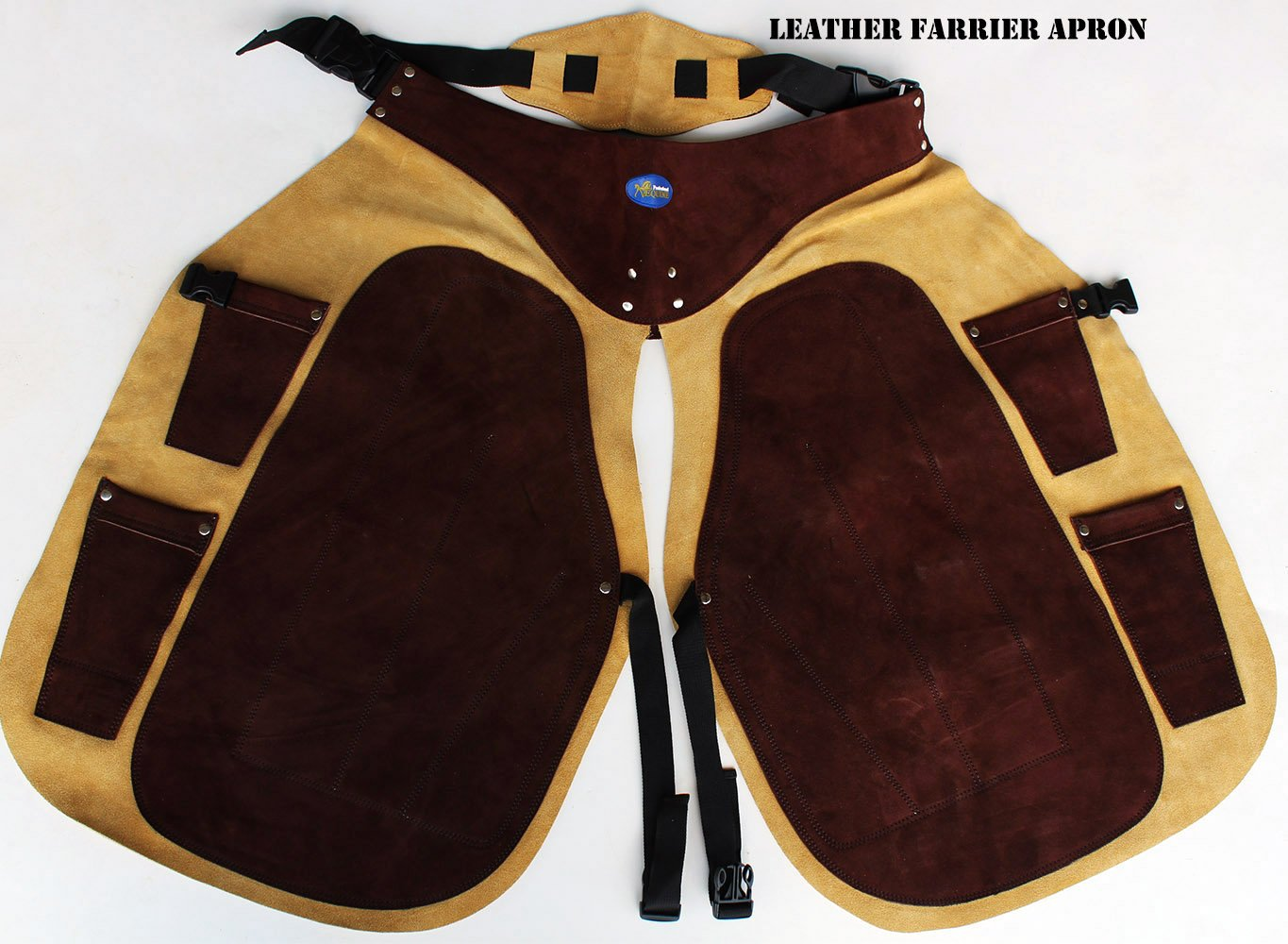 Pro Equine Western Leather Fully Adjustable Horse Farrier Apron Fits All 23116 by Pro Rider