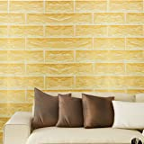 SimpleLife4U Yellow Brick Pattern Contact Paper