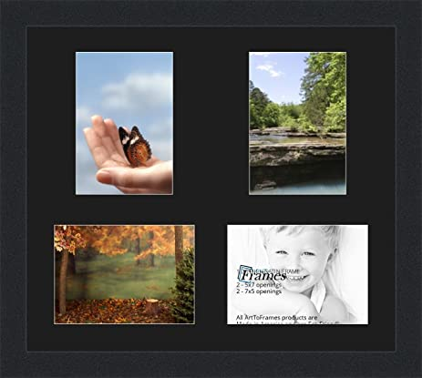 Amazon.com - ArtToFrames Collage Photo Frame Double Mat with 4 - 5x7 ...