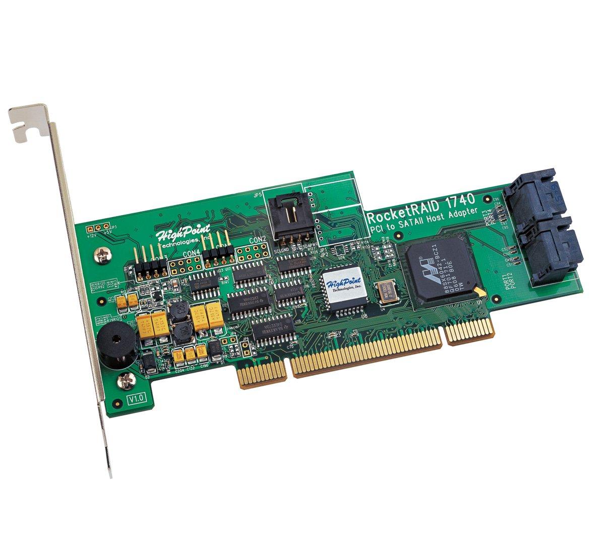 HighPoint RocketRAID 1740 4-Channel PCI SATA 3Gb/s RAID Controller RocketRAID 1740
