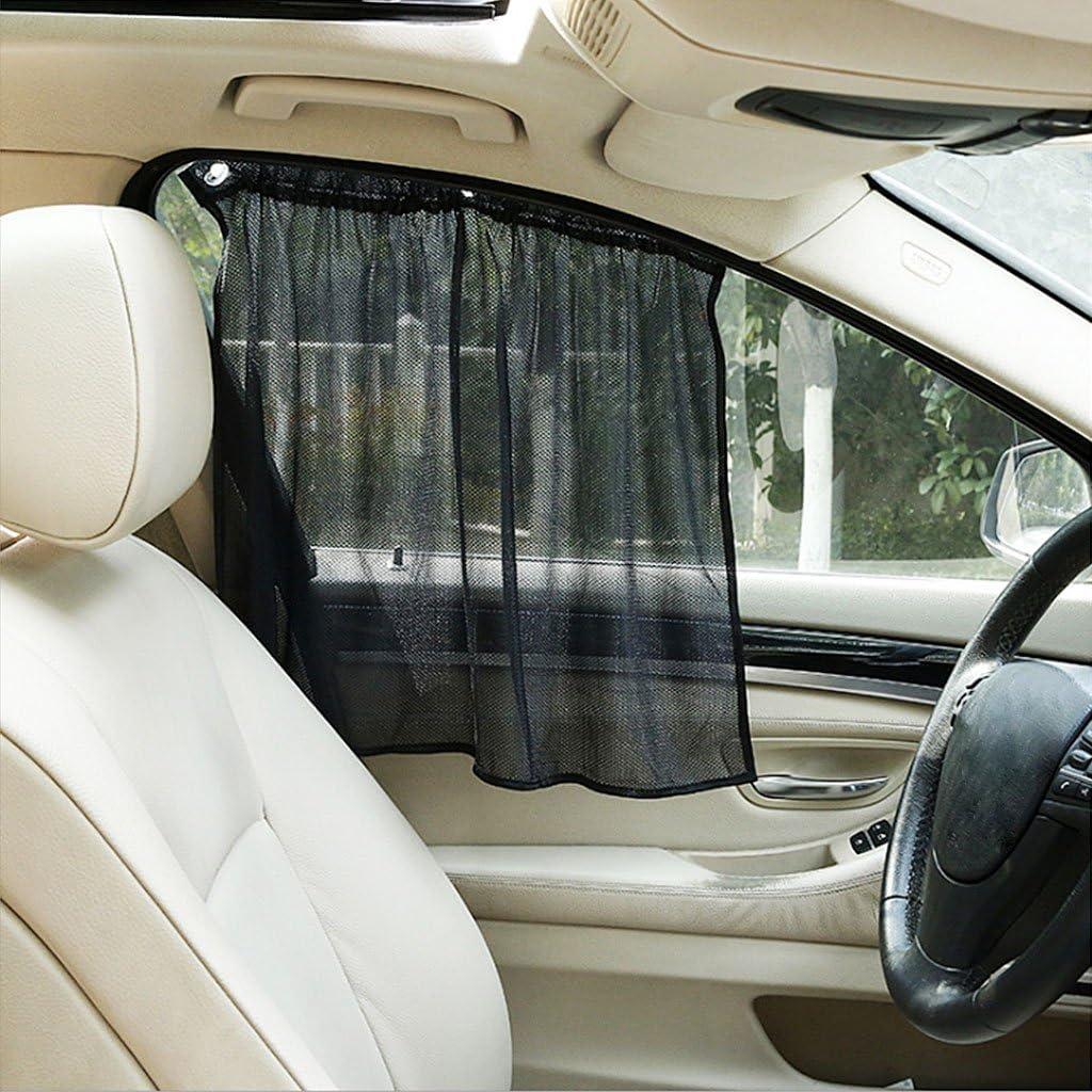 HOWWOH 2 Pieces Car Curtain Side Window Car Sun Shade Curtain Windshield Mesh Curtain Blind