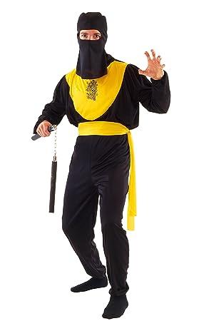 FIORI PAOLO - Dragon Ninja disfraz para adulto, color negro ...