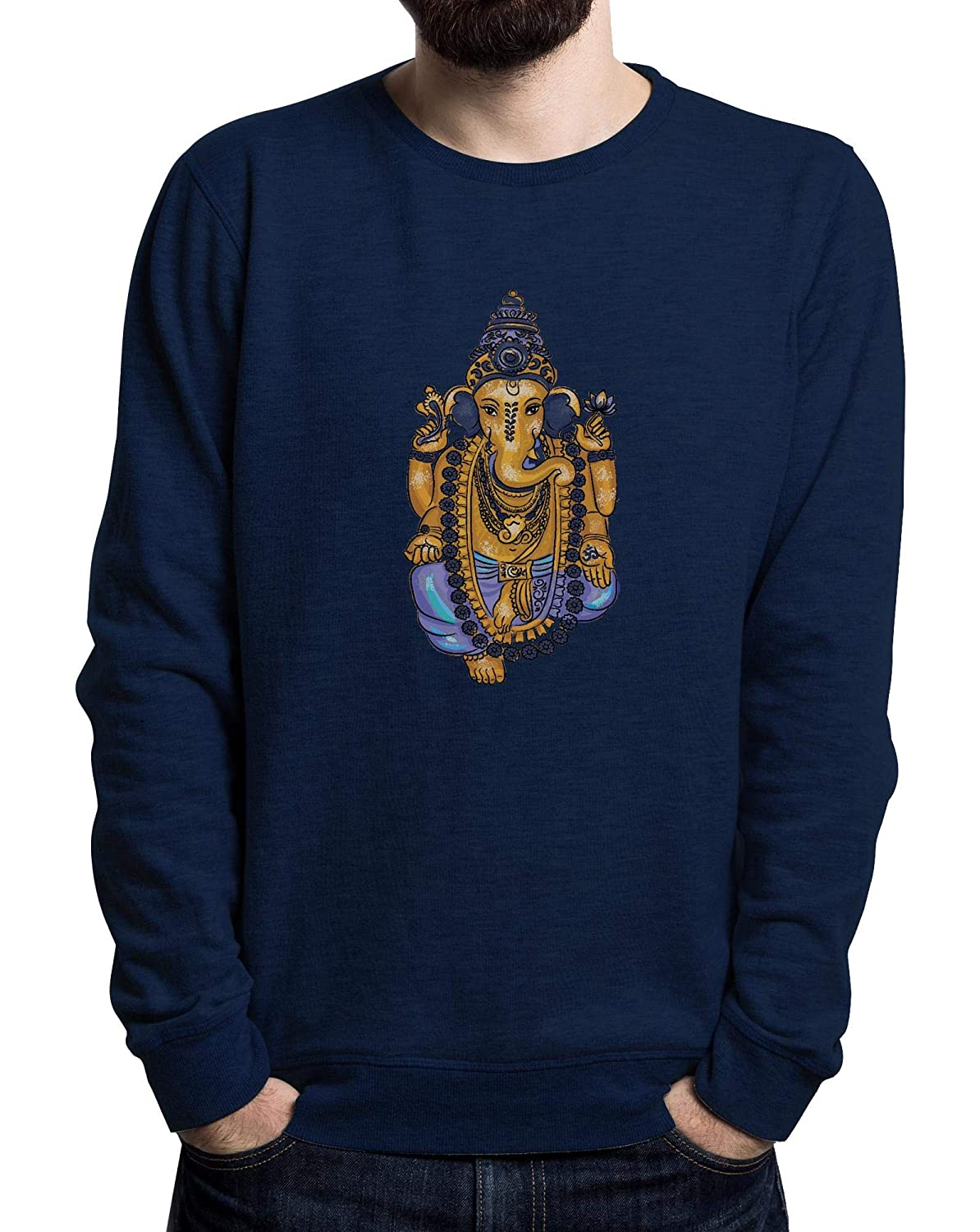 Ganesha, India Love, Ganapati, Cool Style, Yoga Style Men's Sweater Schwarz