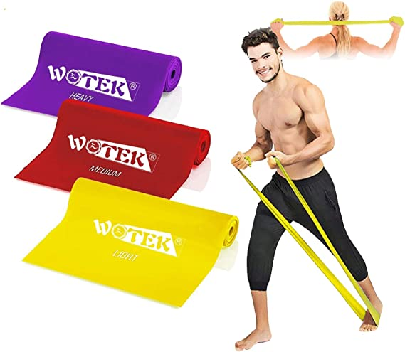 Resistance Bands Set Exercise Bands, Elastic bands with 3 Resistance Levels-1.5M/1.8M/2M Resistance Exercise Bands for Women and Man, Perfect for ...
