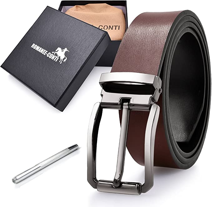 Tonly Monders Vintage Genuine Leather Italian Belt For Men 1 1//2 Inch Width