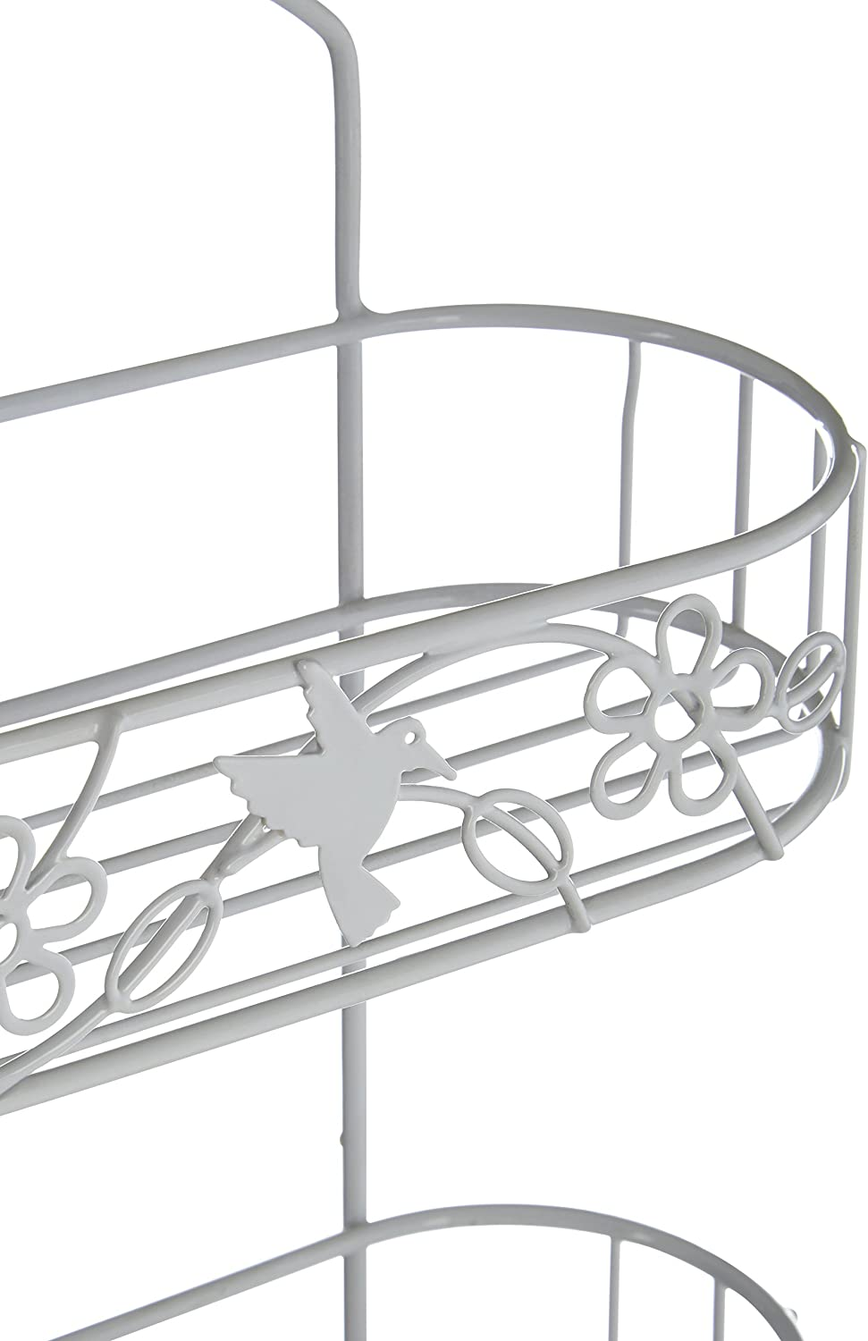 2 Livelli e Portasapone in Metallo Bianco Premier Housewares Portaoggetti da Doccia Paradise