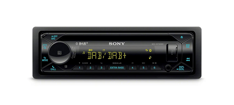 Sony MEX-N7300KIT DAB+ Autoradio mit CD Bluetooth Freisprechen Vario Color 4 X55 Watt Dual Bluetooth Extra Bass USB und AUX Anschluss 3X Preout