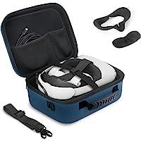 JSVER-reistas voor Oculus Quest 2, harde schaal EVA All-in-one Quest 2 VR-headset beschermhoes, draagtas voor Quest 2…