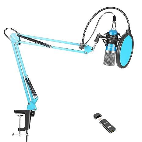 Neewer NW-700 Pro Kit de Micrófono con Adaptador de Tarjeta ...