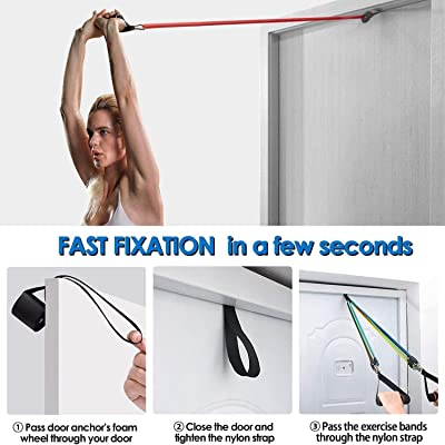 Resistance Bands Tension Band Set Heavy Resistant Door Anchor Attachment Case