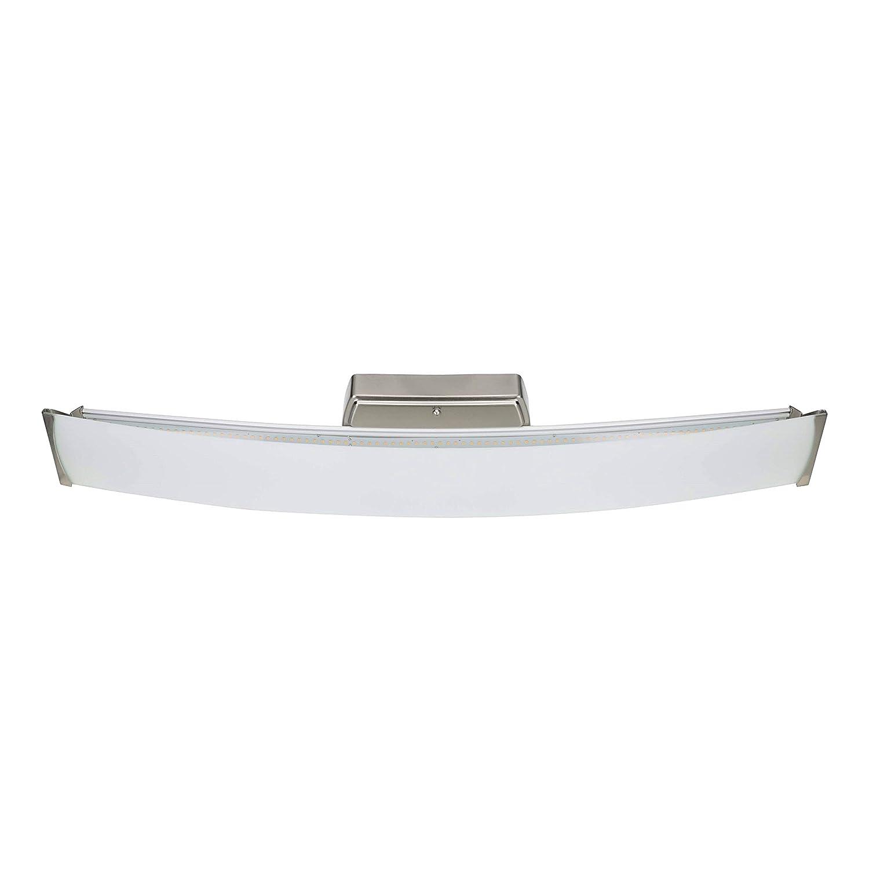 Good Earth Lighting Seattle 32-inch LED Linear Bathroom Vanity Light – Brushed Nickel – 3000K Bright White – Dimmable – 60,000 Hours Lamp Life – ETL – Energy Star