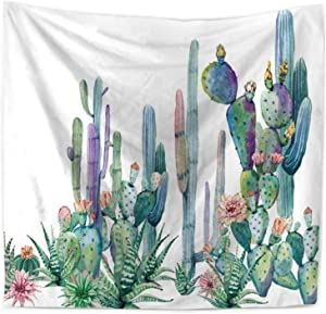 """ECONIE Cactus Tapestry Mandala Wall Hanging Tapestry Wall Art Decor, Beach Throw, Table Runner/Cloth,51"""" x 60""""Inches (10)"""