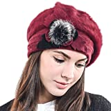 F&N STORY Lady French Beret Wool Beret Chic Beanie