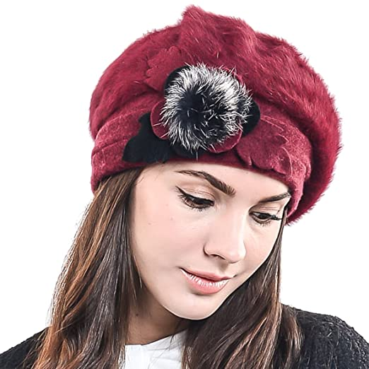 c441b4a6118 F N STORY Lady French Beret Wool Beret Chic Beanie Winter Hat Jf-br034  (BR022