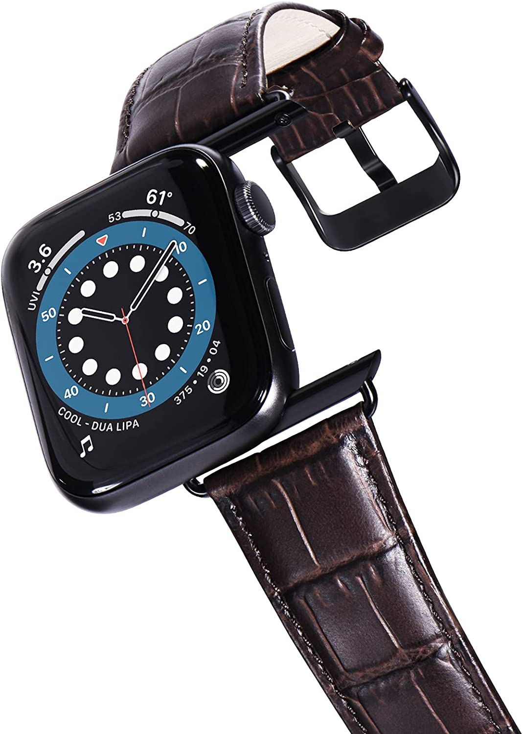 KADES Compatible for Apple Watch Band 38mm, Leather Strap Compatible for Apple Watch Band 40mm Series 4 Series 5 Series 6 iWatch Bands 38mm (Dark Brown)