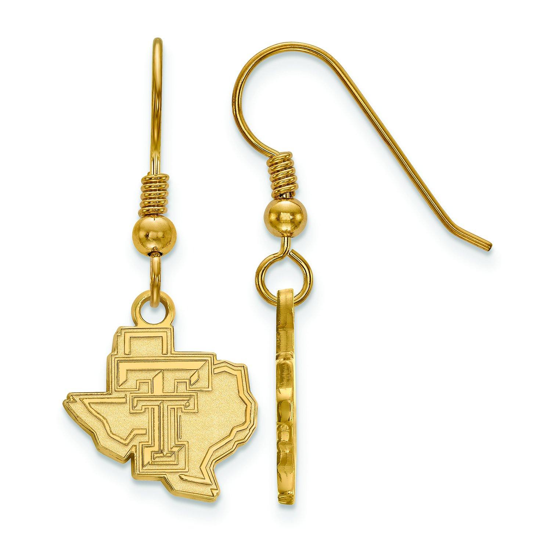 テキサスTech Small (1 / 2インチ) ダングルイヤリングワイヤ(ゴールドメッキ)   B01J013UYW