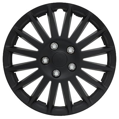 """Pilot Automotive WH521-15C-B All Black 15"""" Indy Wheel Cover, (Set of 4): Automotive"""