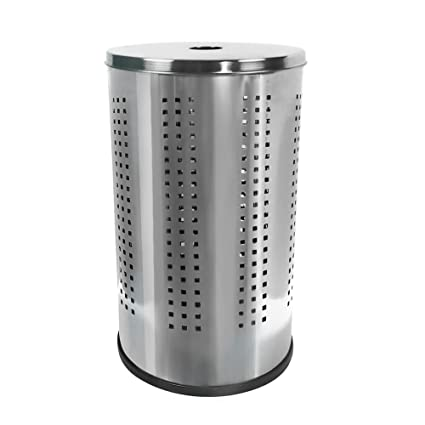 Amazon Com Krugg Polished Stainless Steel Laundry Bin Hamper