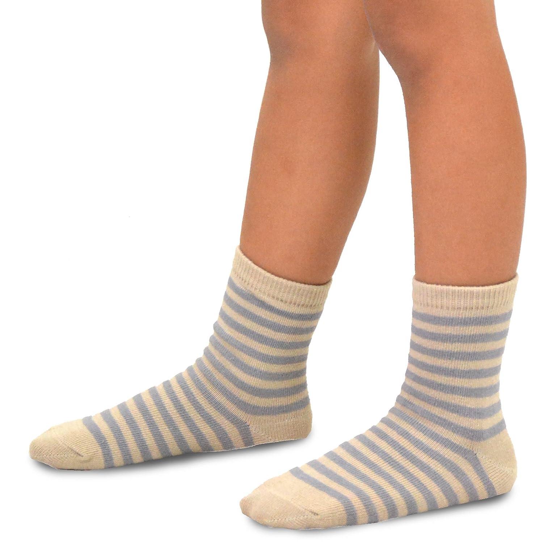 TeeHee Naartjie Kids Boys Basic Cotton Crew Socks 6 Pair Pack Soxnet Inc