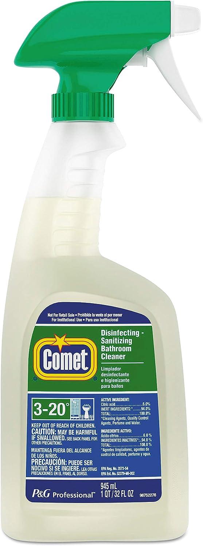 Comet Professional Disinfectant Bath Cleaner, 32 oz Trigger Bottle, 8/Carton