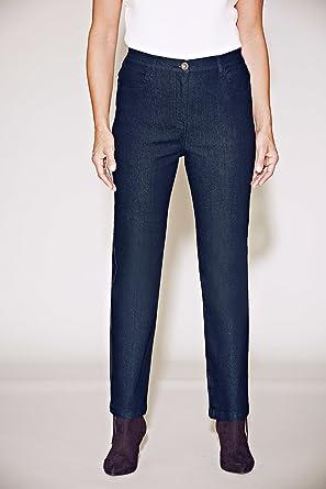 5f75a2660d7 Bonmarche Womens Straight Leg Stretch Denim Jeans Blue Size 24   Amazon.co.uk  Clothing