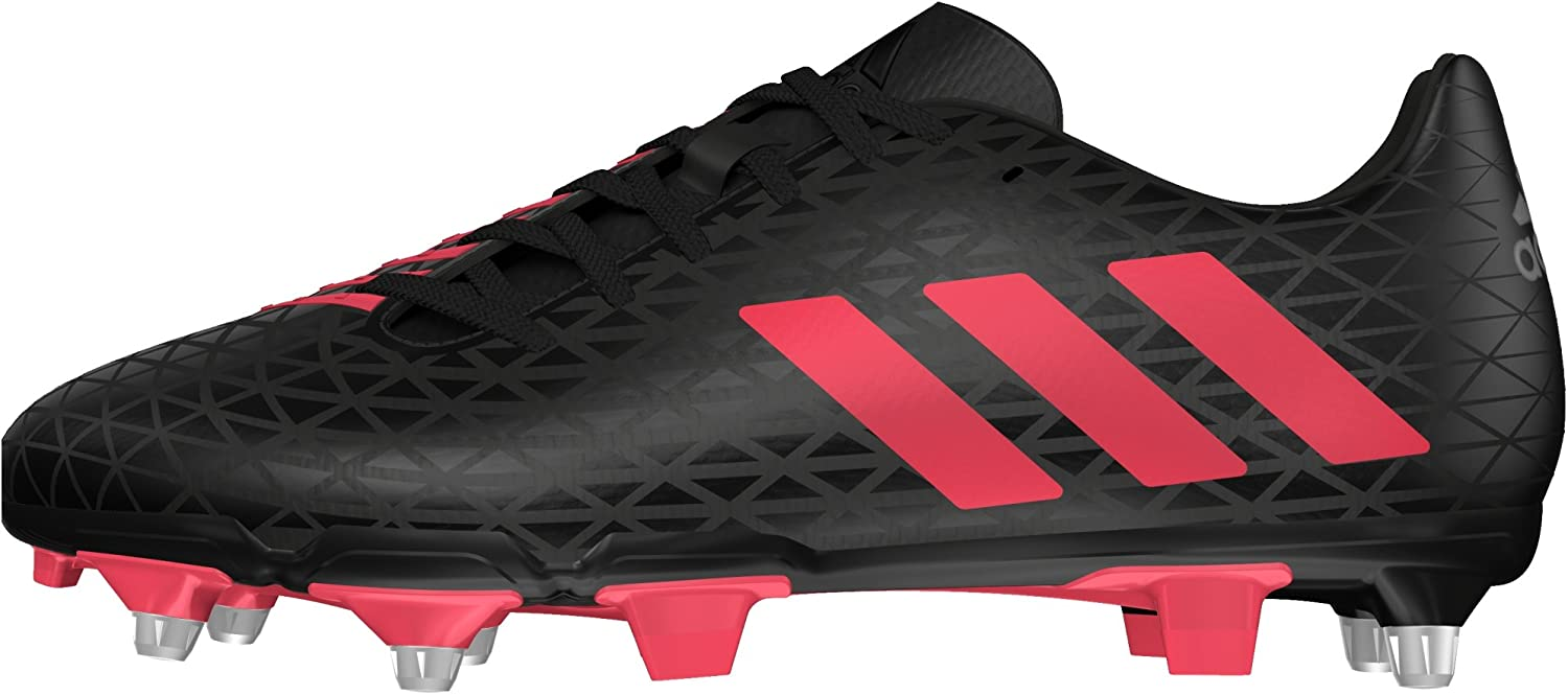 adidas AW16 Malice Elite SG Rugby Boots Black//Shock Red