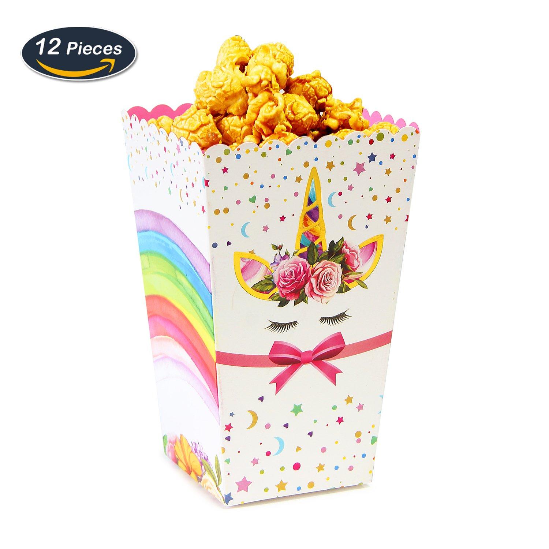 Amazon.com: AMZTM Unicorn Treat Boxes – Magical Rainbow Popcorn ...