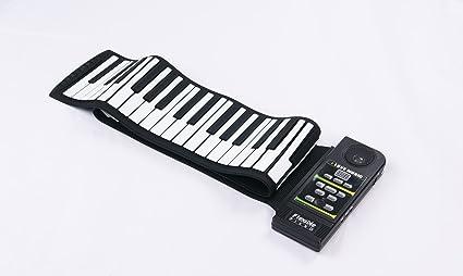 Sourcingbay - Teclado electrónico enrollable de piano de silicona, flexible, 88 teclas, con