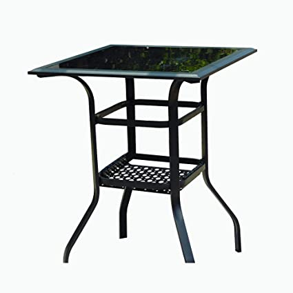 Amazoncom Lokatse Home Outdoor Bistro Bar Patio Table 2 Tier