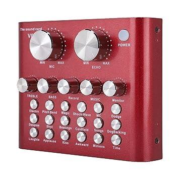 Tarjeta de Sonido Externa, V8 USB Mezclador de Audio ...