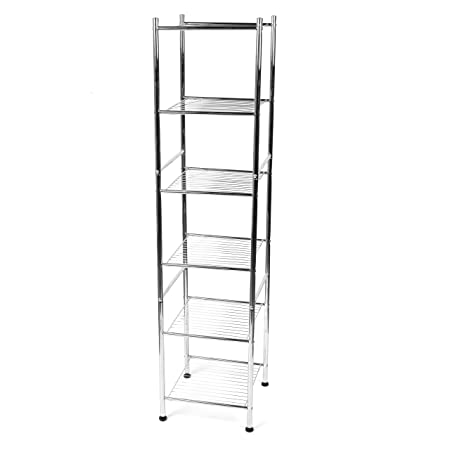 beldray la037770 6 tier bathroom shelf unit with adjustable feet rh amazon co uk Walmart Shelves Glass Shelving Units