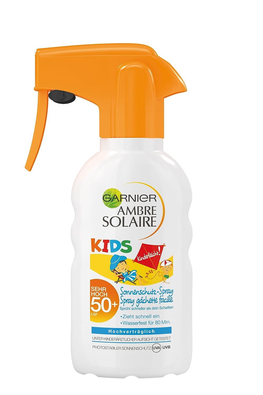 Garnier Ambre Solaire Sonnenschutz Spray Kids / Sonnenspray für Kinder extra wasserfest / LSF 50+, 1er Pack - 200 ml C54177